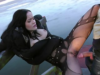Be wild about machine fun and outdoor sex for slutty piece of baggage Dolly Diore