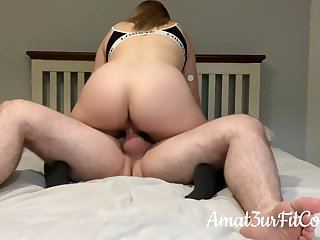 Moaning Teen Ride On Gumshoe For Deep Creampie Rides Cowgirl In Lougewear! Real Amateur Couple