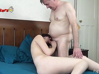Exciting Old Camera Man Makes 18 Epoch Old Model Cum