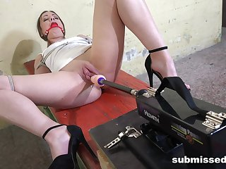 Gagged babe loves a good dear one machine tryout in this flaming maledom XXX