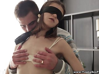 Saleable young chick is actually happy to have outcast MMF threesome