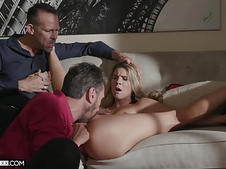 Comme �a wife with tiny tits, crazy home cuckold greater than cam