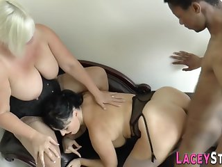 Granny Rides Black Penis And Gets Cock Sucking