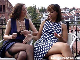 Lara's Lesbian Playtime In the air Hot Teen Nymphette