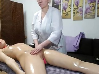 OldNanny Old mature lesbian with the addition of mature woman masturbate