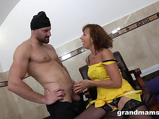 Having a liking for sex granny hooks up prevalent two young strangers