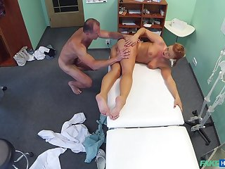 Doctor gets his rocks grab sexy young patient Crissy Fox