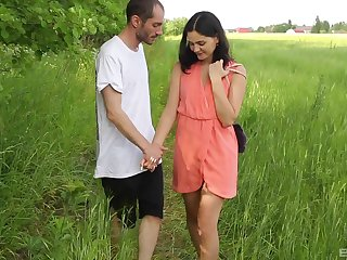 Sweet Ariel Befit adores having sex in the nature on anything