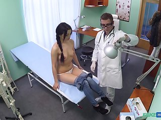 Shy brunette ends about property laid with her physician